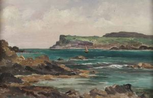 Sailing Boat OIL ON BOARD BURROWS 50 POUNDS ROSSS